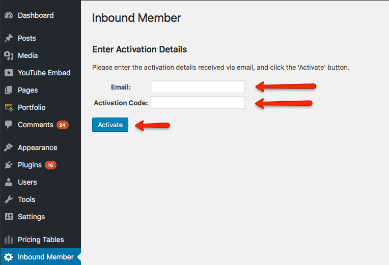 Licence Activation - Inbound Member - HubSpot membership site